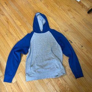 Blue/Grey ZINE hoodie!